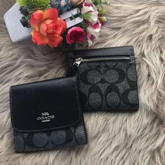 Coach Handbags - 🍒NWT🍒 COACH SIGNATURE METALLIC TRIFOLD WALLET